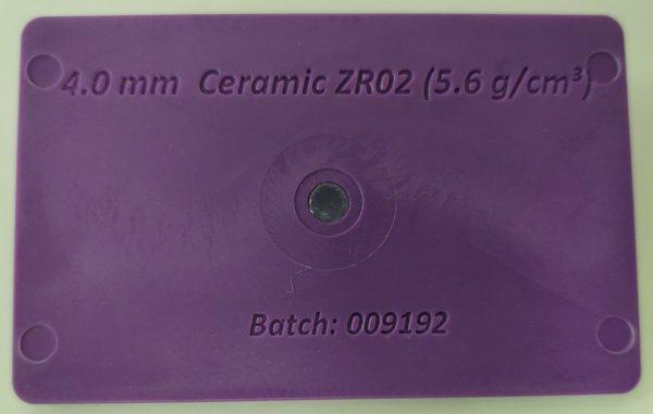 Purple Ceramic ZrO2 Acetal Card
